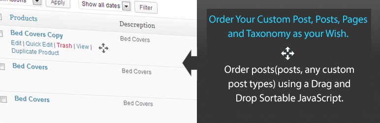 WordPress文章、分类自定义排序插件:Simple Custom Post Order 1