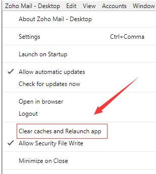 zoho desktop桌面版移除多余账号