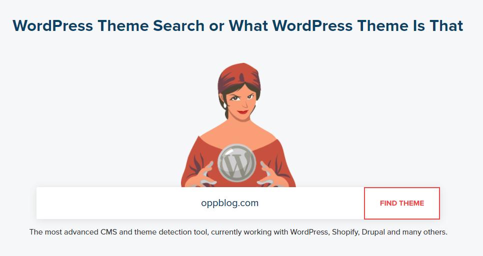 查看Wordpress网站用了哪个模板主题